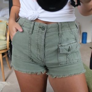 WORN GREEN CARGO SHORTS!